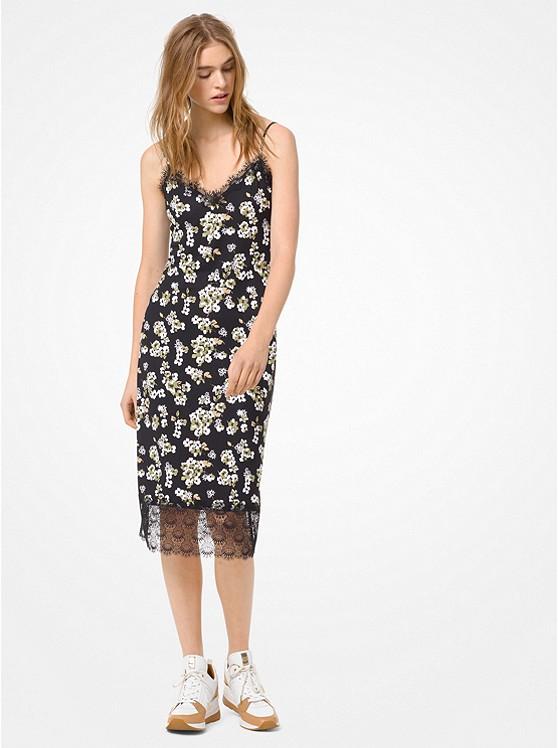 Floral Matte-Jersey Slip Dress