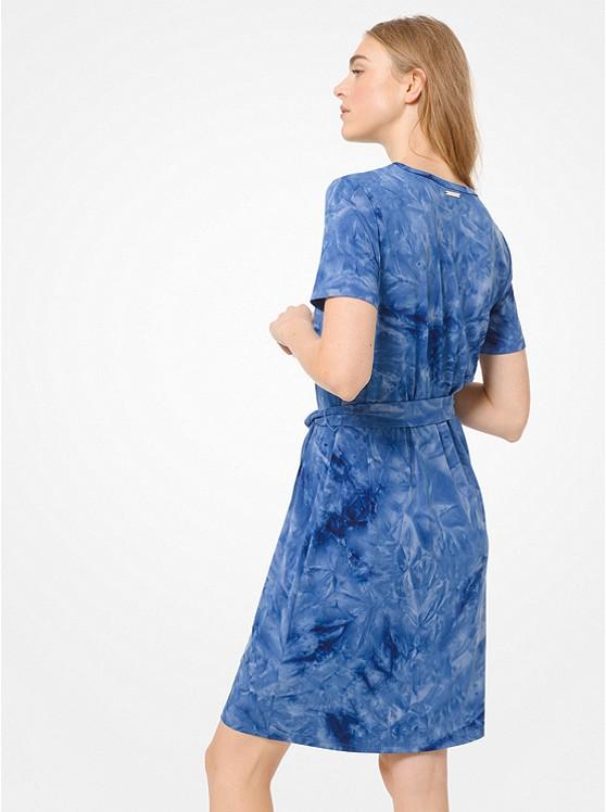 e914680aa574 ... Tie-Dye Belted T-Shirt Dress ...