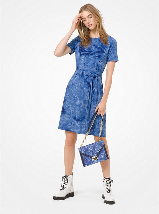 0c0d50b01af6 ... Tie-Dye Belted T-Shirt Dress