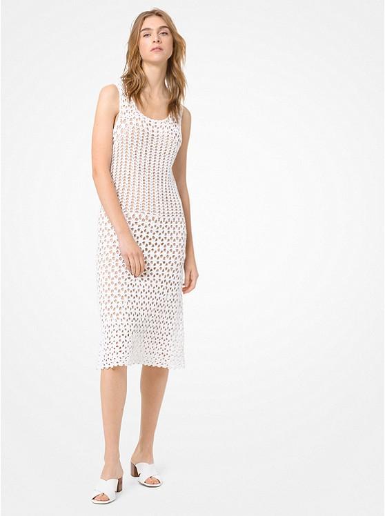 Crocheted Cotton Tank Dress