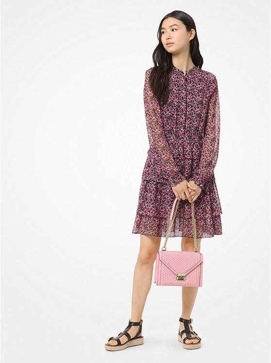 3f48075b07c Floral Chiffon Shirtdress