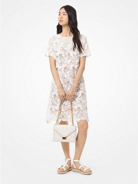 Butterfly Appliqué Lace Dress by Michael Kors