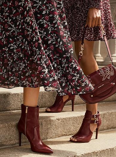 Botanical Blaine Boot Leaf Ankle Dress Bootie Blaze Print Wrap tIwx77
