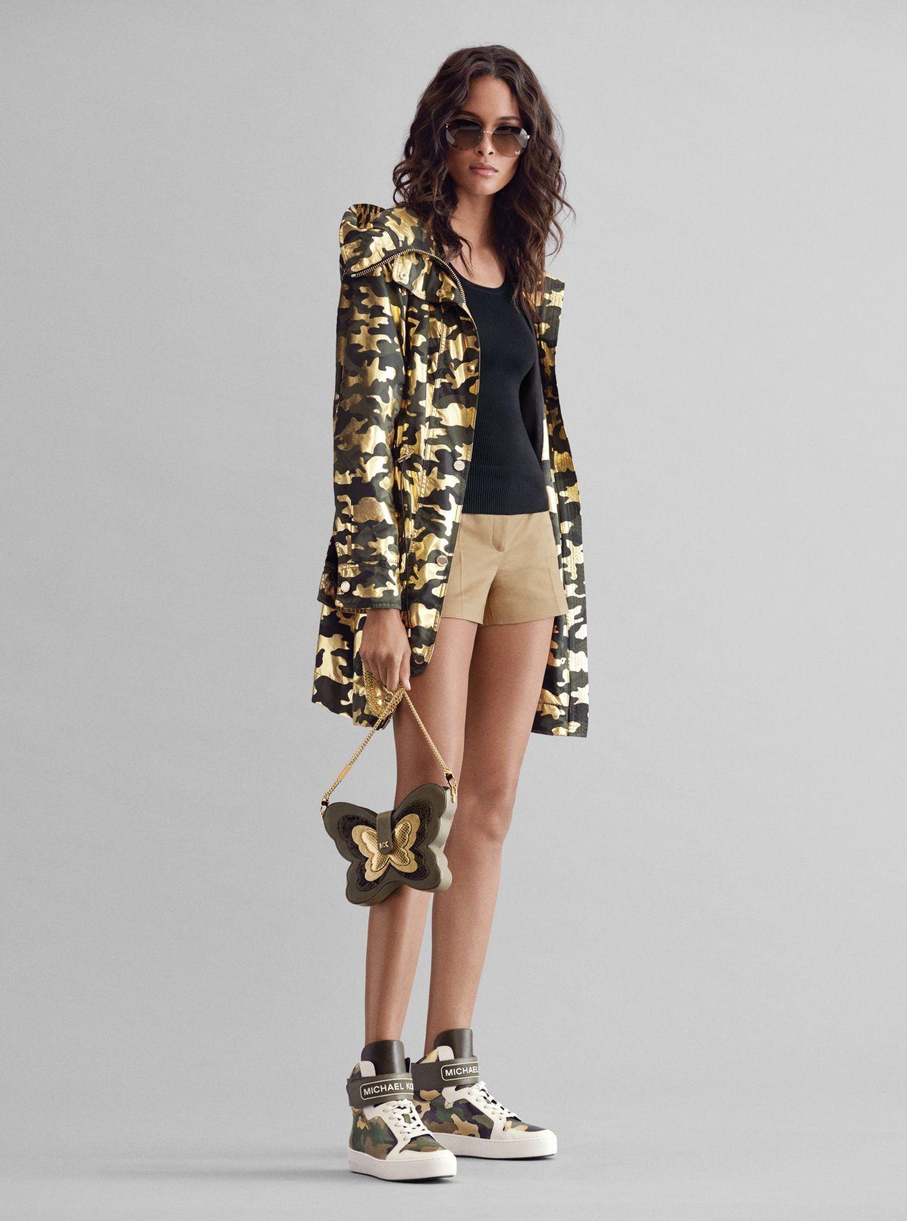 Anorak Mit Camouflagemuster, Tanktop, Shorts Aus Twill