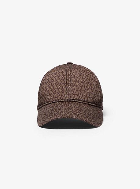 마이클 마이클 코어스 볼캡 모자 Michael Michael Kors Logo Print Stretch Cotton Baseball Cap,CHOCOLATE