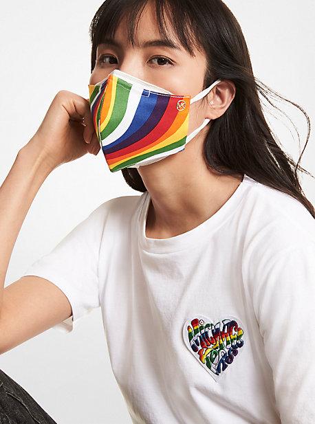 Wavy Rainbow Stretch Cotton Face Mask