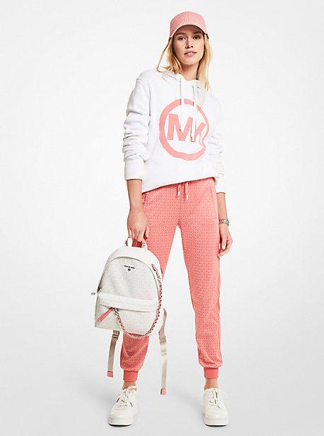 마이클 마이클 코어스 Michael Michael Kors Logo Charm Cotton Unisex Hoodie,WHITE