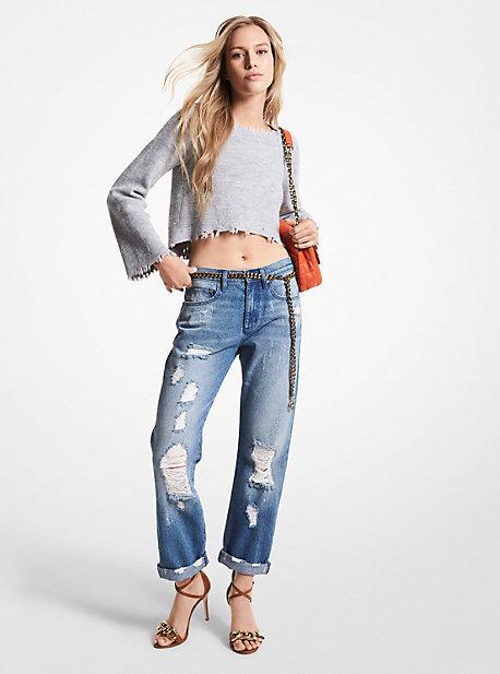 마이클 마이클 코어스 디스트레스드 데님 진 - 2 컬러 (김세정 착용) Michael Michael Kors Distressed Denim Jeans