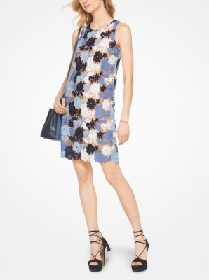 Floral Lace Shift Dress Michael Kors