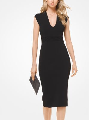 Stretch Viscose Midi Dress by Michael Kors