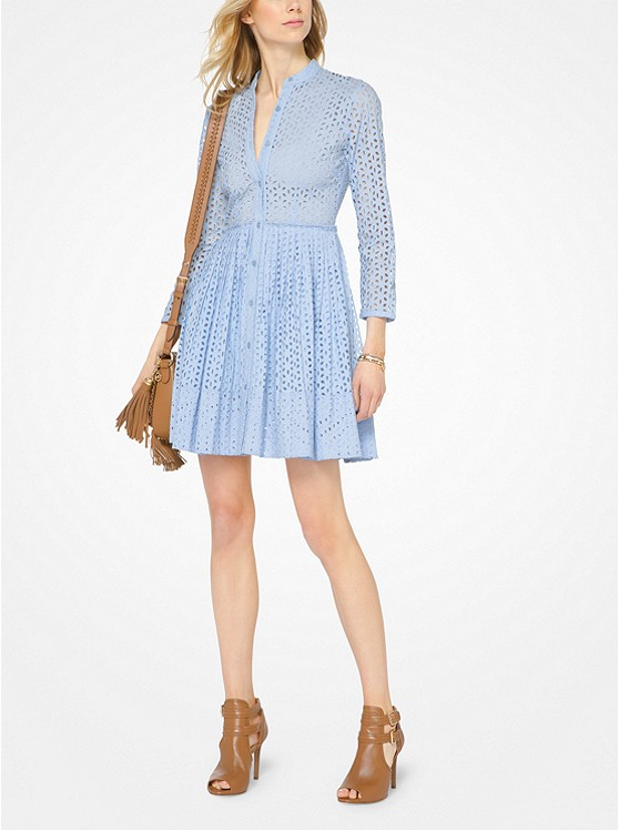 Eyelet Cotton Shirtdress