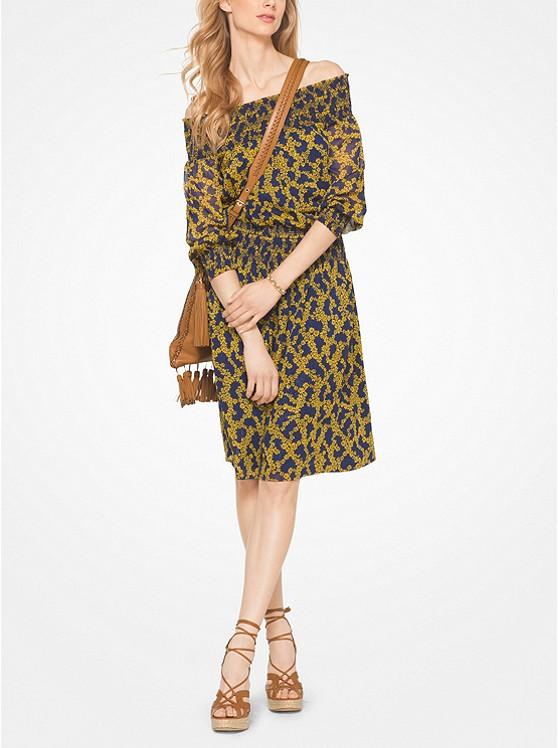 Botanical Off-The-Shoulder Dress