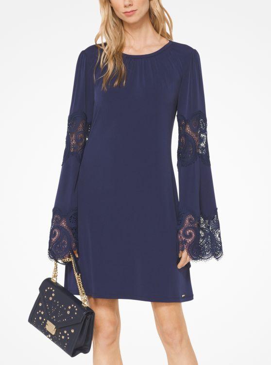 Lace Inset Matte Jersey Dress by Michael Michael Kors