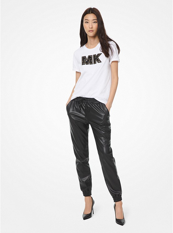 Faux Leather Joggers by Michael Michael Kors
