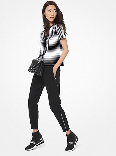 Pantalone cargo in cady