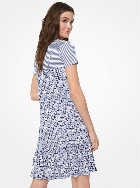 117ca25a4b3 ... Embroidered Medallion-Print Matte-Jersey Slip Dress ...