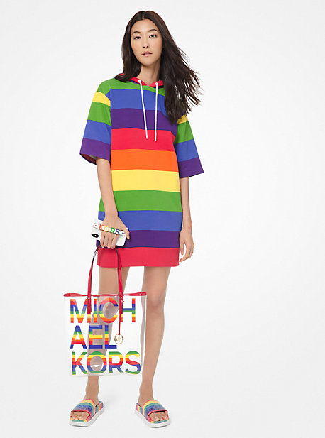 3872286f8f748 Rainbow Cotton-Terry Hoodie Dress · michael michael kors · Rainbow ...