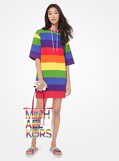 879518b920 Abito in terry di cotone motivo arcobaleno con cappuccio · michael michael  kors ...