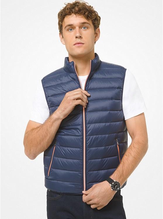 Michael Kors Men's Quilted Nylon Vest